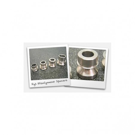 """Pair of High Misalignment Spacers: Fits 7/8"""" bore heim w/ 1/2"""" bore"""