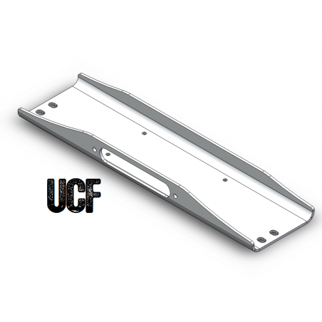 UCF 6061-T6 Aluminum Winch Plate for Jeep CJ