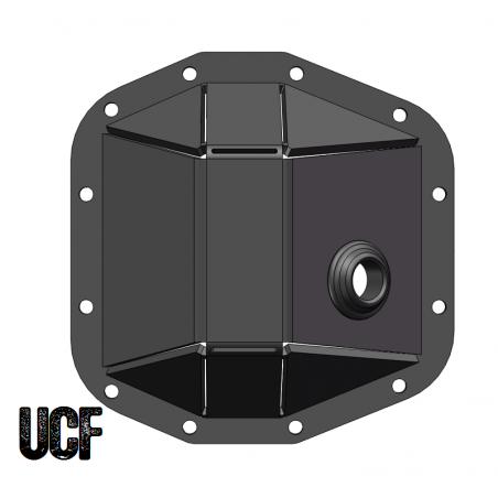 UCF JL & JT Rubicon Front Dana 44 M210 HD Diff Cover (Welded)