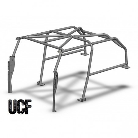 UCF TJ Full Roll-Cage for Jeep Wrangler (No Adult Rear-Passengers)