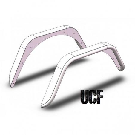 UCF Rear Steel Fender Flares for Jeep TJ/LJ