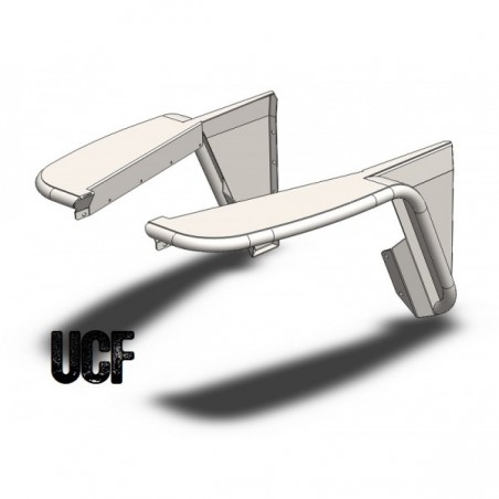 UCF Highline Front Tube Fenders for Jeep TJ/LJ DIY Kit