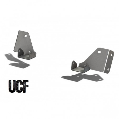 "UCF Jeep CJ/YJ Windshield Mounting Brackets for 3"" LED Cubes"
