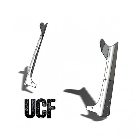 "UCF TJ Steel Windshield Guards 50"" LED Light-Bar Mounts"