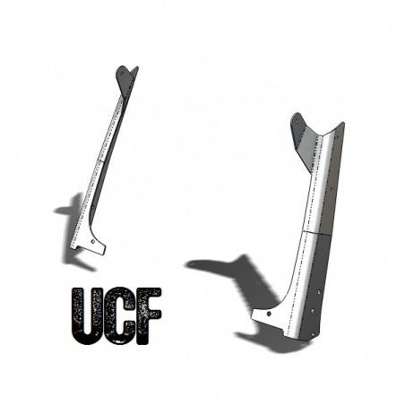 "UCF TJ Aluminum Windshield Guards 50"" LED Light-Bar Mounts"