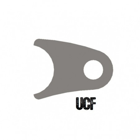 "UCF Curved Coil-Over Tab for 1 1/4"" Tube"