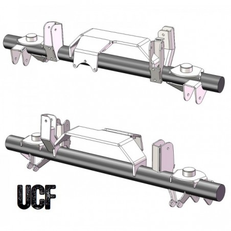 UCF TJ Corporate 14 Bolt Rear Axle Bracket Kit