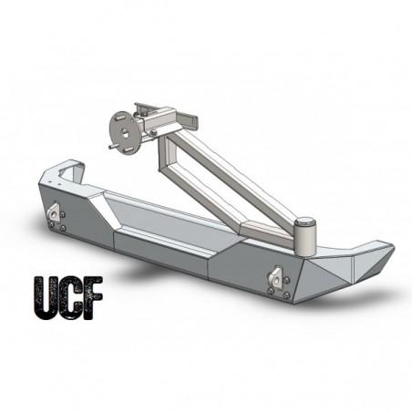 UCF Aluminum Rear Bumper & Tire Carrier for Jeep JK