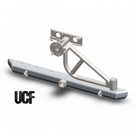 UCF Steel Rear Bumper with Tire Carrier for Jeep YJ & TJ