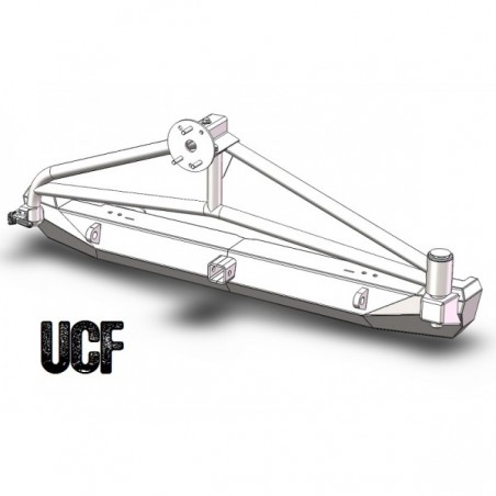 UCF Steel Rear Bumper & Tire Carrier for Jeep XJ